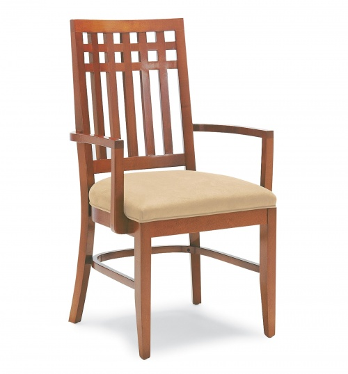 Wooden Chairs With Arms ~ Upholstered wood arm chairs