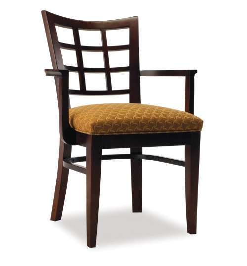4358-1 Wood Arm Chair