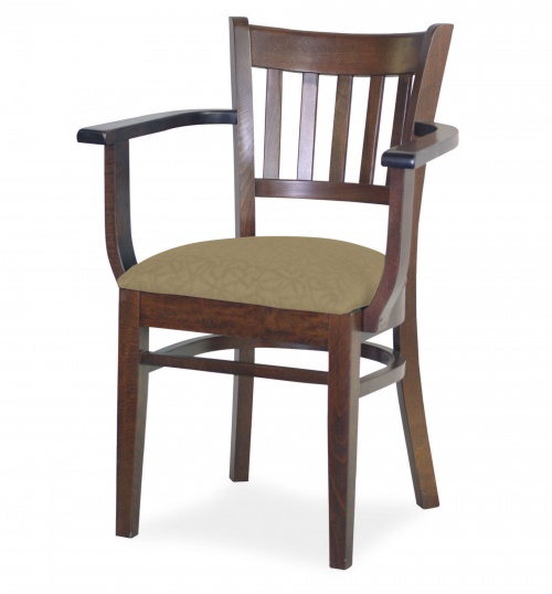 7040 Wood Arm Chair