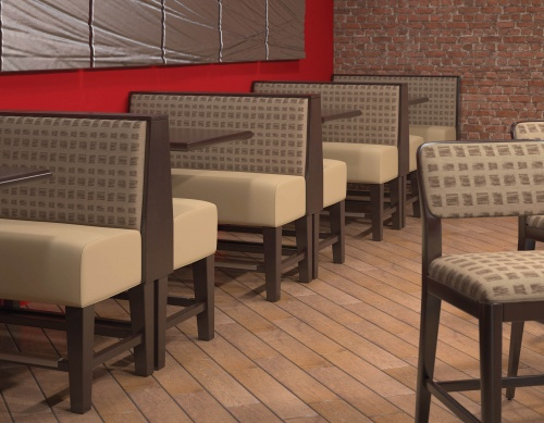Bar Height Booths in Restaurant