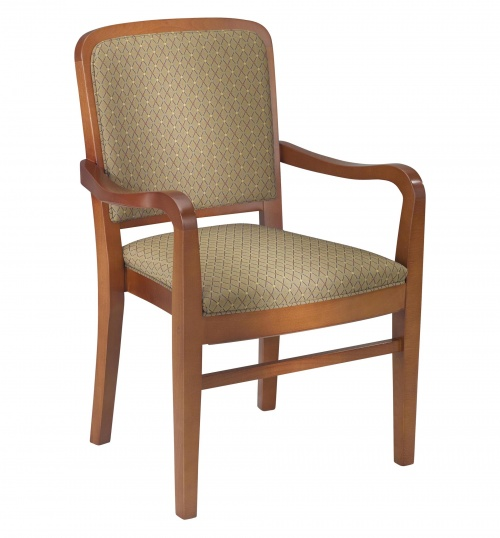 Upholstered wood arm chairs for Wood dining chairs with arms